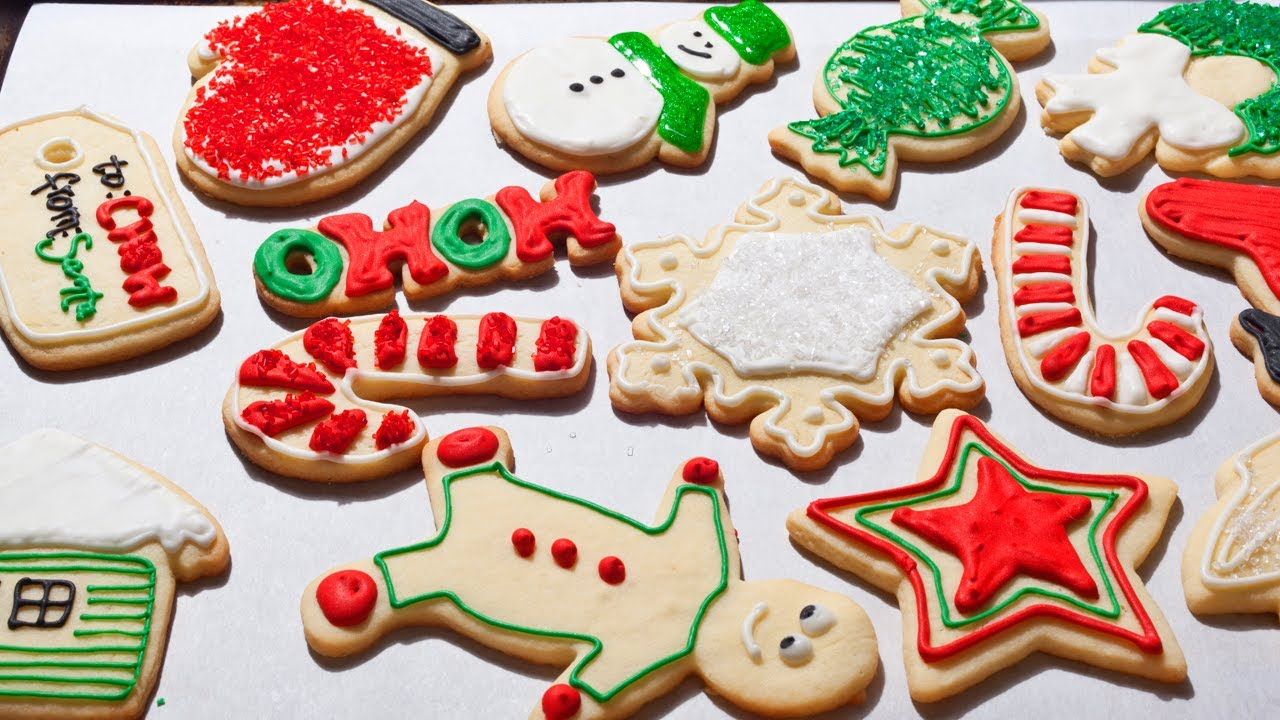 how to make christmas sugar cookies with icing