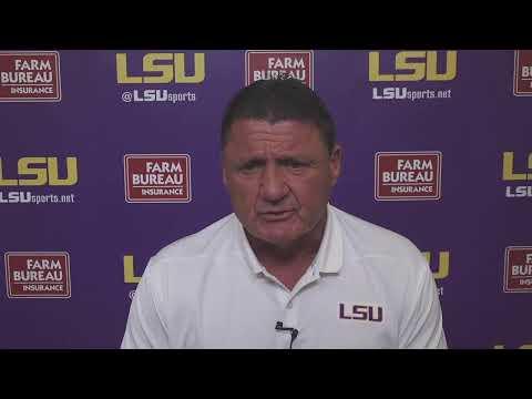 The Coach O Press Conference - LSU vs. Mississippi St.