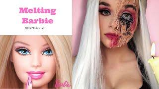 Melting barbie|SFX Makeup Tutorial