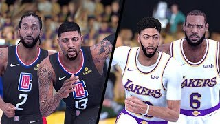 NBA 2K19 - Los Angeles Clippers vs. Los Angeles Lakers - Full Gameplay (Updated Rosters)