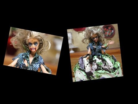 Zombie Barbie Doll Cake- How To Decorate- Cake Decorating- Halloween - Smashpipe Style