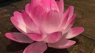 DIY Plastic Spoon Lotus Flower