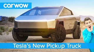 All-new Tesla Pickup Truck 2021 - see why the Cybertruck EV is an F150 Raptor slayer!