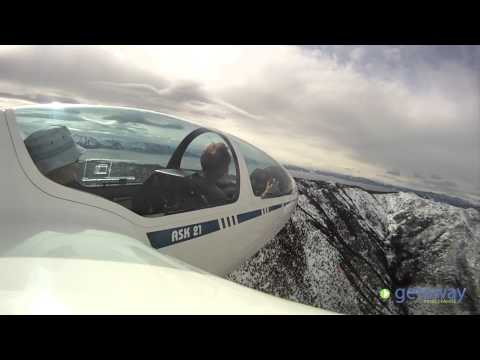Glider riding with SoaringNV over Lake Tahoe