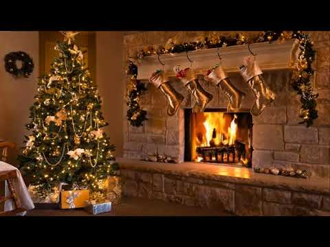 Classic Christmas Music with a Fireplace and Beautiful Background (2 hours) (2019)