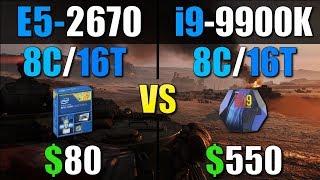 Intel Xeon E5 2670 vs i9 9900K