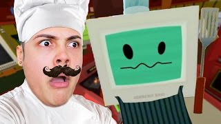HOW TO COOK FOOD IN VIRTUAL REALITY 🍔🍗🍟 !!! - Gourmet Chef (Job Simulator HTC VIVE)