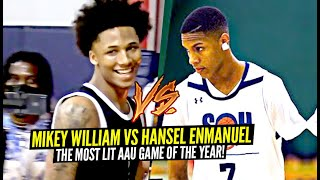 Mikey Williams vs 1 Armed Hooper Hansel Enmanuel Was The MOST LIT AAU Game Of 2021!!!
