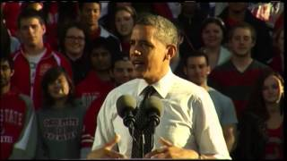 Obama urges college students in Ohio to vote