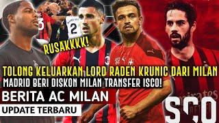KELURKAN RADEN KRUNIC❗️Madrid Beri Diskon Transfer Isco Ke Milan❤️Ramaikan Buru Syaqiri🔥 Forza Milan