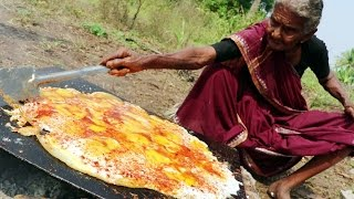Tasty Egg Dosa || King of Egg Dosa By My Grandma's Village Style || Country Foods