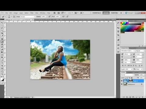 Photoshop Tutorial - Inserting a sky in post production