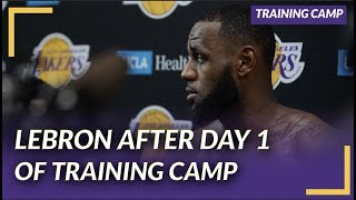 Lakers Nation Interview: LeBron On First Day of Training Camp & What He Learned