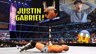 NEW WWE FAN REACTS TO JUSTIN GABRIEL FOR THE FIRST TIME! *ANOTHER AMAZING HIGH FLYER!*