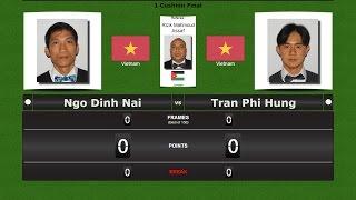 Carom 1 Cushion  Final : Ngo Dinh Nai vs Tran Phi Hung