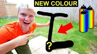 SPRAY PAINTING MY SCOOTER A NEW COLOUR!