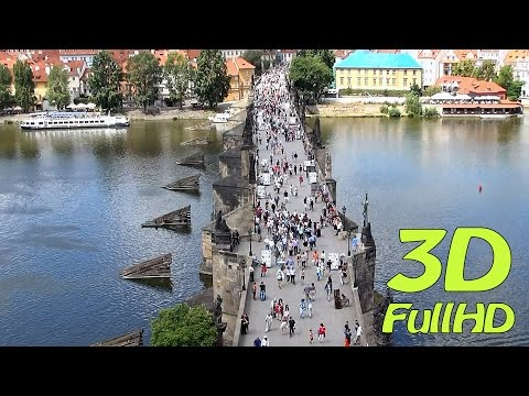 [3DHD] Charles Bridge, Prague, Czech Republic / Karlův Most, Praha, Česko / Most Karola, Praga