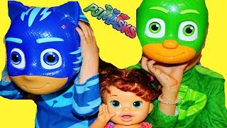 PJ Masks Catboy HELPS LITTLE BABY!? Gekko Best Sitter Funny Episodes!