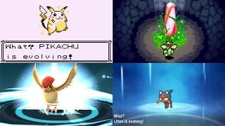 Evolution of Pokémon Evolution Animations (1996 - 2016)