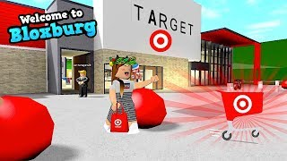 MEETING MY MOM AT TARGET FOR SOME SHOPPING! BLOXBURG HOUSE TOUR | ROBLOX | FAMBAM GAMING