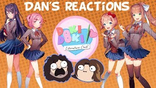 Game Grumps DDLC - Dan's Reactions and Foreshadowing Compilation