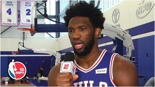 Joel Embiid says he has a great 2019-20 season coming | 2019 NBA Media Day