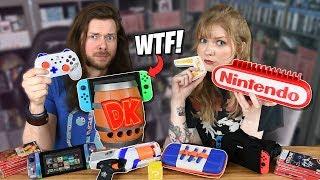 My Girlfriend & I Buy WEIRD Nintendo Switch Accessories, AGAIN!