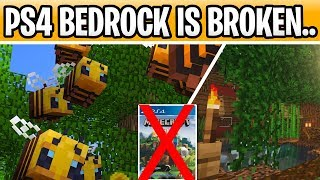 Minecraft New 1.15 Survival World Because PS4 Bedrock IS BROKEN!