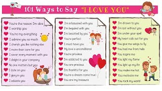 """101 Ways To Say """"I LOVE YOU"""" in English"""