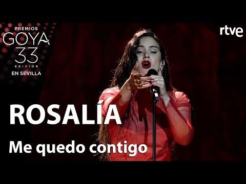 Rosalía canta 'Me quedo contigo' | Goya 2019