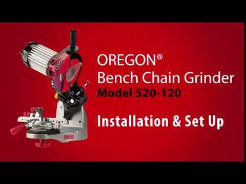 Oregon Bench-Mount Chain Sharpener, Model# 520-120