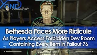 Bethesda Faces More Ridicule as Players Access Forbidden Dev Room with Every Item in Fallout 76