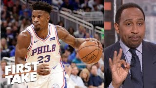 76ers need shooters to go with Embiid, Butler, Simmons - Stephen A. | First Take