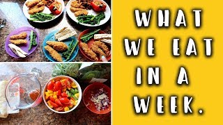 WHAT WE EAT IN A WEEK (FAMILY MEAL IDEAS) +A COMPETITION!