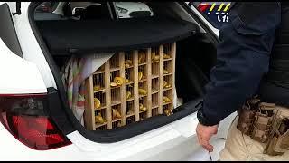 PRF resgata pássaros silvestres, na BR-116, em Pelotas, e prende dois suspeitos
