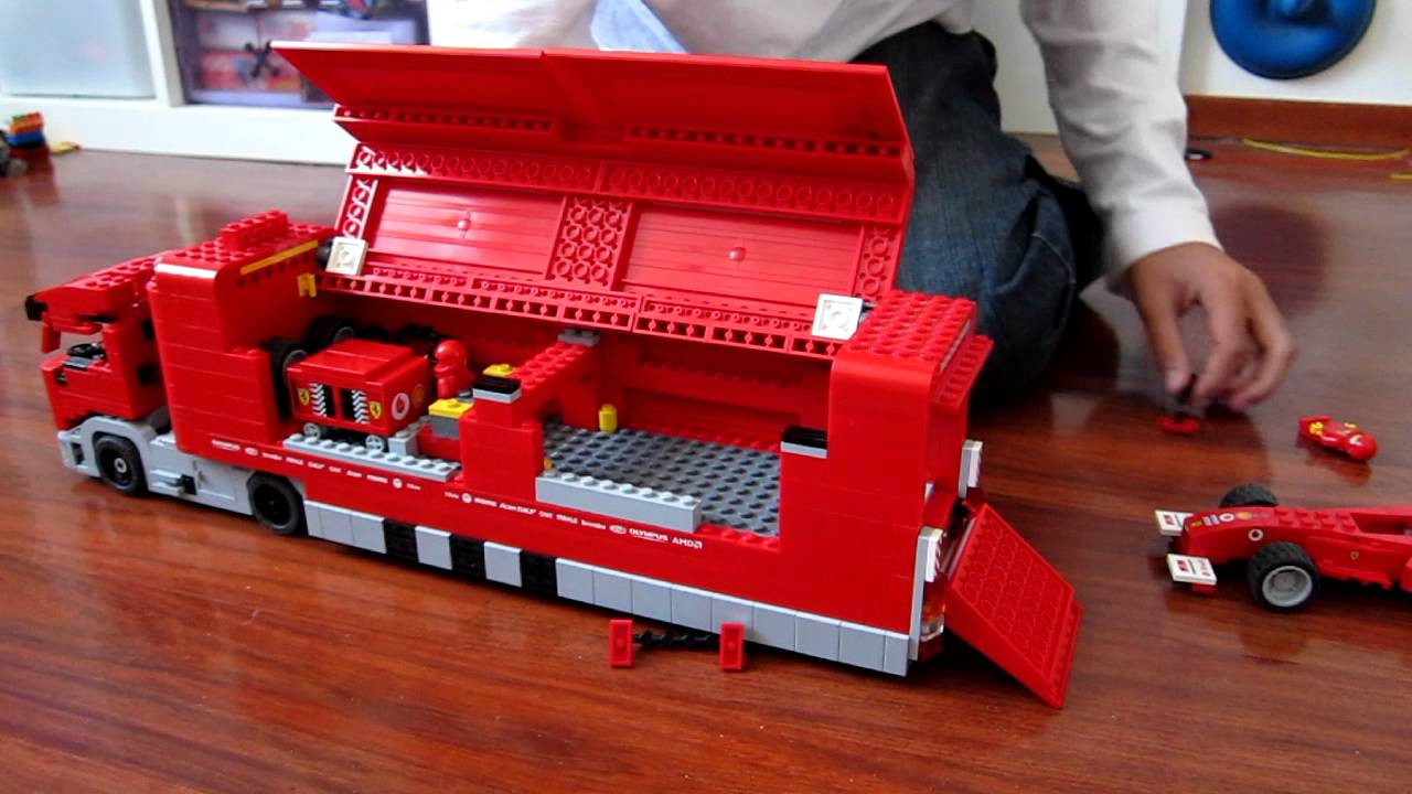 review lego ferrari truck dutch spoken youtube. Black Bedroom Furniture Sets. Home Design Ideas