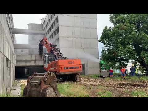 """Début des opérations de démolition des bâtiments """"Langlois et Moede"""""""