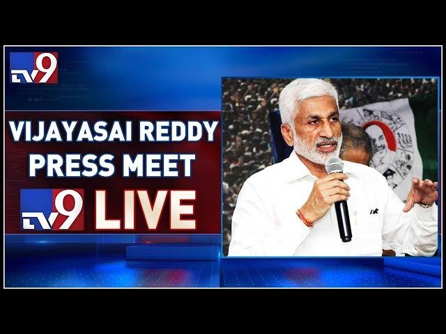 YCP MP Vijaya Sai Reddy Press Meet LIVE || Hyderabad - TV9
