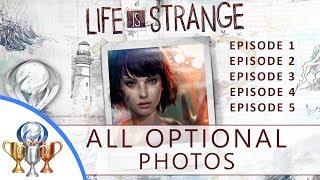 Life is Strange Episode 1-5 Optional Photos (All 50 Photos, Full Platinum)