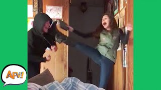 So SCARED She Actually KICKED Him! 😂  | Funniest Pranks | AFV 2021