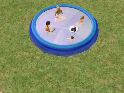 Large Wading Pool Sims 2 Pc Freetime Required Youtube