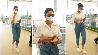 Tollwyood actress Rakul Preet Singh spotted at Hyderabad a..