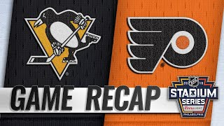 Giroux's OT goal caps Flyers' rally in Stadium Series