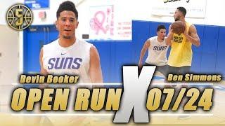NBA Open Run Devin Booker vs Ben Simmons