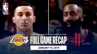 Full Game Recap: Lakers vs Rockets | Harden & Gordon Lead HOU In OT Thriller