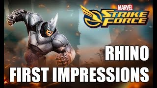 Rhino Rank up, First Impressions & Gameplay - Marvel Strike Force