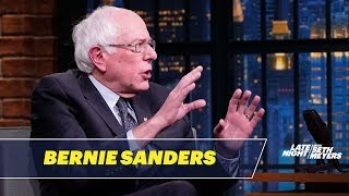 Senator Bernie Sanders Says It's Awkward Running Against His Colleagues