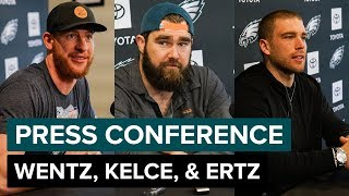 Wentz, Kelce, & Ertz Discuss Offseason Conditioning & More   Eagles Press Conference