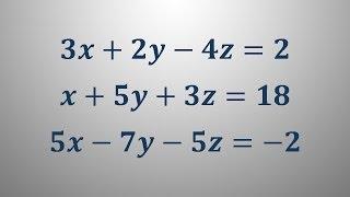 Sistem treh linearnih enačb 2