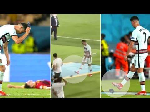 Watch: Cristiano Ronaldo throws and kicks his armband again